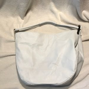 White large leather purse